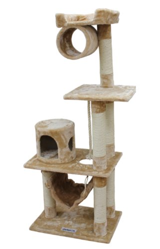 Kitty Mansions Dallas Cat Tree, Beige