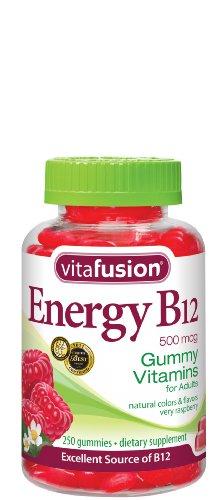 Vitafusion Energy B12 Gummy Vitamins, Very Raspberry, 250 Count