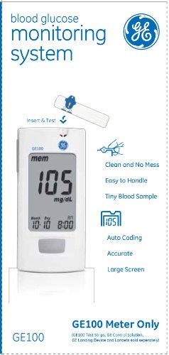 Ge100 Blood Glucose Monitoring System Health Beauty Health