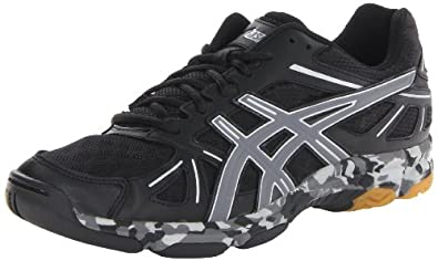 Asics - Mens Volleyball Gel-Flashpoint Shoes In Blk/Charcoal/Silver, UK: 7.5 UK, Blk/Charcoal/Silver