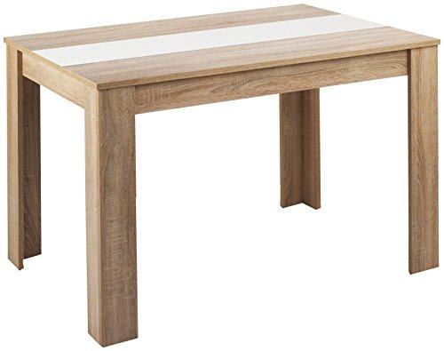 Cavadore-80252-Tisch-Nico-140-x-80-x-75-cm-Melamin-Sonoma-Eiche-mit-Wendeplatte-schwarz-wei