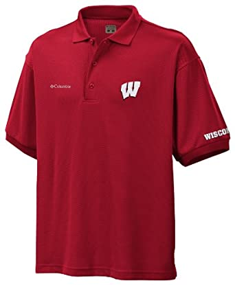 NCAA Wisconsin Collegiate Perfect Cast Polo by Columbia