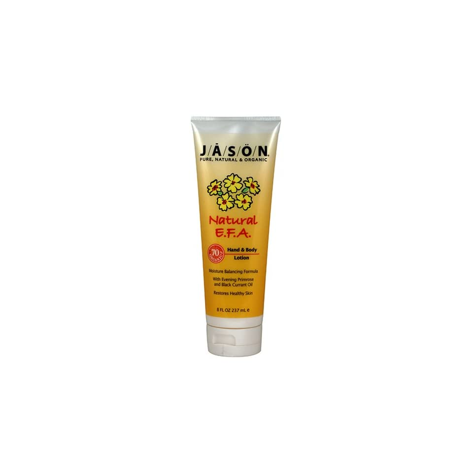 Jason Natural EFA Hand & Body Lotion, 8 Ounce Tubes (Pack of 3)