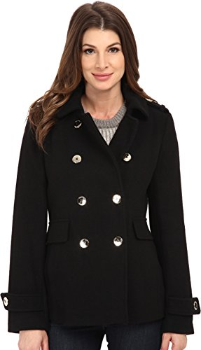 Calvin Klein Womens Double Breasted Wool Coat
