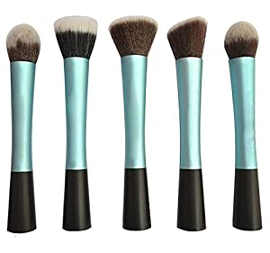 Lychee 5pcs Soft Professional Makeup Brushes Cosmetic Make Up Brush Set Fashion Foundation Powder (Blue) by Lychee