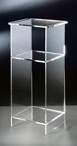 Hochwertiger-Acryl-Glas-Telefontisch-klar-33-x-31-cm-H-73-cm-Acryl-Glas-Strke-10-mm