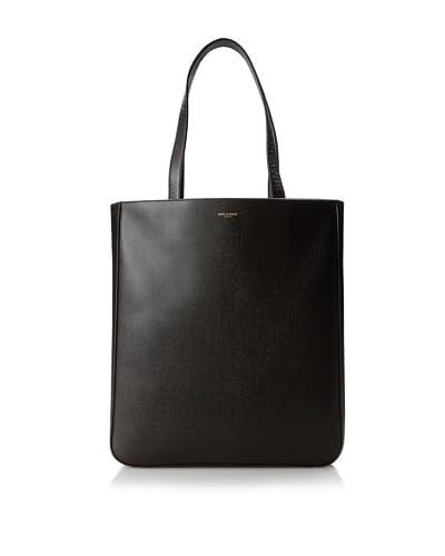 Saint Laurent Women's Classic Large Museum Tote Bag, Dark Brown