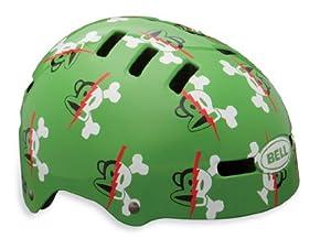 Bell Fraction Multi-Sport Youth Helmet, Green Paul Frank Lightning Bolts, Extra Small