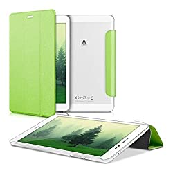 kwmobile Ultra Slim Smart Cover for Huawei MediaPad T1 8.0 / Honor T1 in green with convenient stand function and transparent back cover