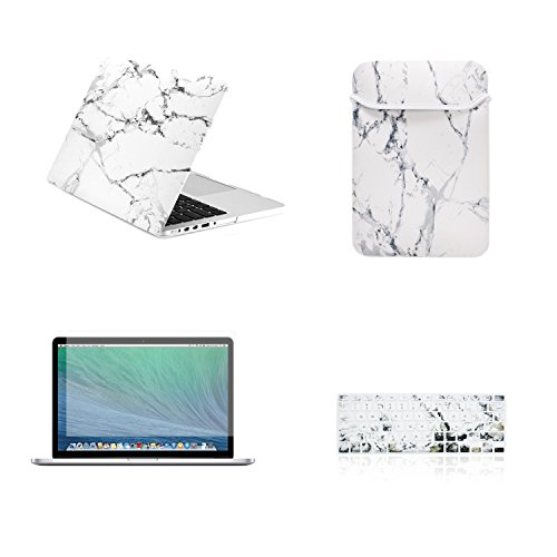 Find Cheap TOP CASE 4 in 1 Bundle - Retina 13-Inch Marble Pattern Rubberized Hard Case + Sleeve Bag ...