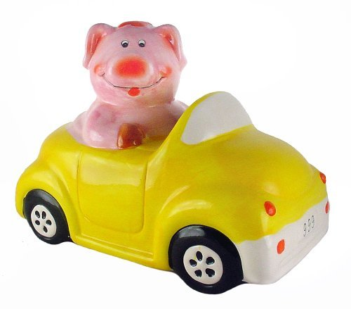Pig in Car - Animal Piggy Bank