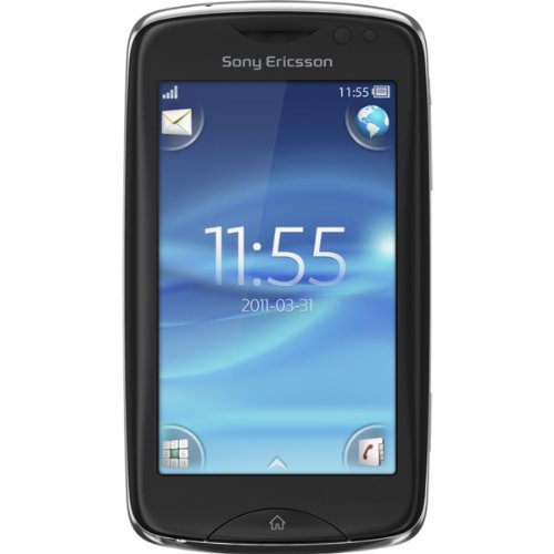 Sony Ericsson CK15EUBLK Txt Pro Unlocked GSM Smartphone with 3MP Camera, Wi-Fi, QWERTY keyboard, Black