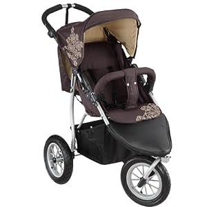 knorr-baby 883960 3-Rad Sportwagen Joggy S mit Lufträdern chocolate-beige