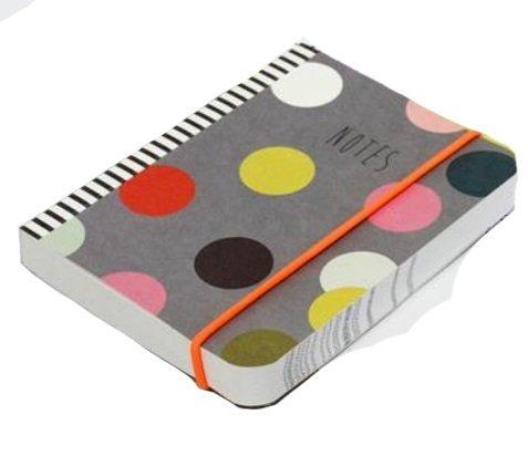 Caroline Gardner Pina Colada Kaleidoscope Print Small Chunky Elastic Closure Notebook