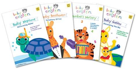 Baby Einstein Gift Pack Volume 3 (Baby Galileo/Baby Neptune/Baby Beethoven/Numbers Nursery)