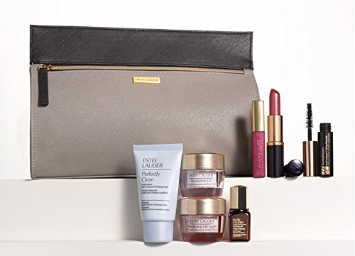 Estee-Lauder-8-Pcs-Gift-Set-Fall-2014-Resilience-Lift-Day-Night-Moisturizier-Duo-Advanced-Night-Repair-Serum-Mascara-Lipstick-Gloss-Perfectly-Clean-Cleanser-Makeup-Bag-Valued-165