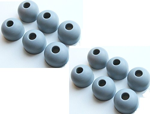 12 Pcs Large Original Oem Motorola Replacement Earbuds Tips Ear Gels Bud Cushions For S9 S9Hd S10 S10Hd Bluetooth Stereo Headset (12 Gray Small)