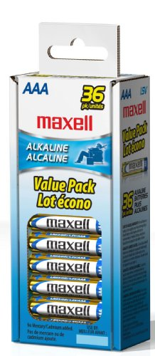 Maxell 723815 LR03 AAA Cell 36 Pack Box Battery