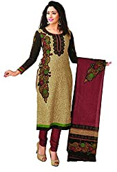 CHINTAN TEXTILES Ethnicwear Women's Dress Material (Beige_Free Size)