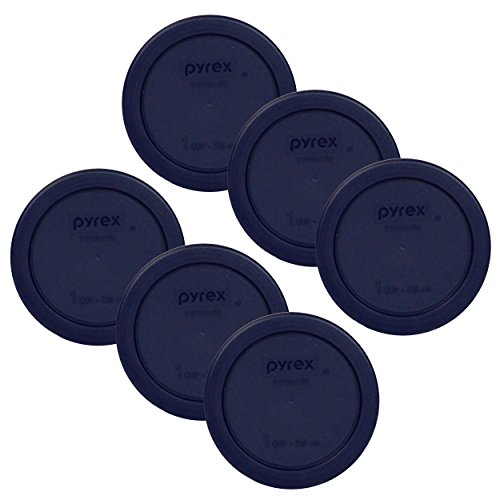 Pyrex 1 Cup Round Plastic Cover Lids, 6-Pack, Blue (Cup Lid compare prices)