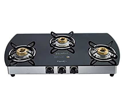 Pigeon Blackline Oval SS 3 Burner Auto Ignition Gas Cooktop