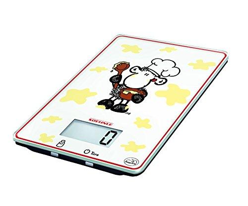 Sohnle 0866305 Crazy Cook Balance Electronique Verre de Sécurité Blanc 9 kg/1 g