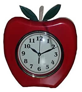 Apple Wall Clock Battery Operated Kitchen