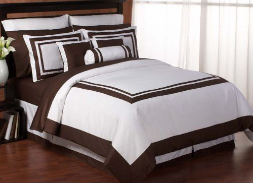 Chocolate Hotel Spa Collection Duvet Comforter Cover 6 piece Bedding Set - King Size