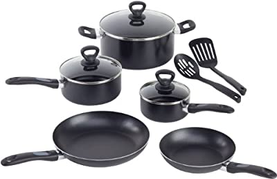 WearEver A801SA74 Comfort Grip Nonstick Oven Safe Dishwasher Safe 10-Piece Set