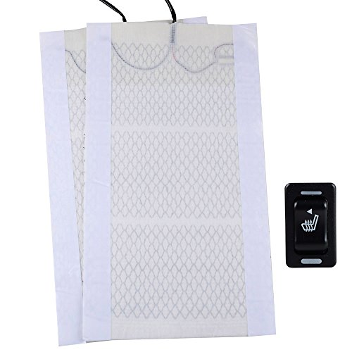 12V Chemical Fiber Cotton Winter Heated Seat Heater Heating Cover w/ Rectangle Switch Car Motorcycle Universal (Heated Seat Element compare prices)