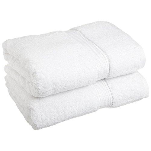 Superior 900 Gram 100% Premium Long-Staple Combed Cotton 2-Piece Bath Towel Set, White (Turkish Bath Sheet 900 Gsm compare prices)