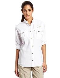 Columbia Women\'s Bahama Long Sleeve Shirt, White, Medium