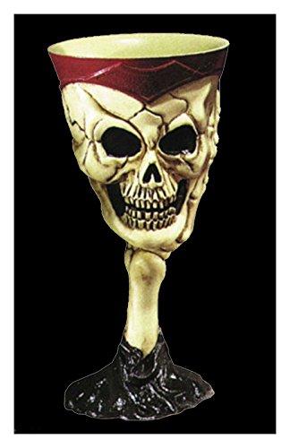 [Pirate Skeleton SKULL GOTHIC GOBLET Horror Party Cup-trending online] (Wine Inspired Halloween Costumes)