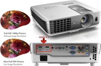 BenQ W1070 Projector with Colorific Technology