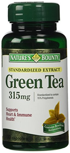 Nature's Bounty Green Tea Extract, 315mg, 100 Capsules (Pack of 2) (Green Tea Extract Capsules compare prices)