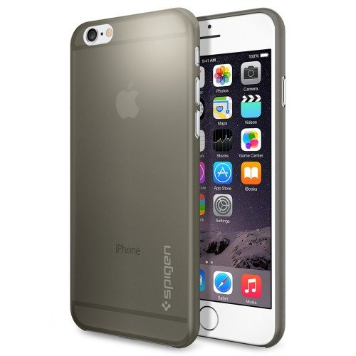iPhone 6 ケース Spigen [薄さ0.4mm] エアースキン Apple iPhone 4.7 (2014) (国内正規品) (グレー SGP11079)