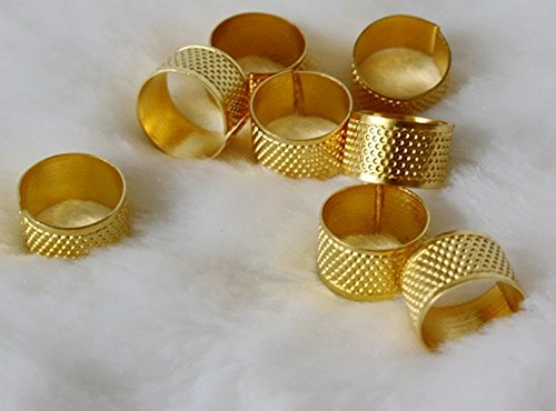 Generic DIY Crafts Sewing Thimbles Needle Safety Tools Tailor Finger Protector Pack of 10(One Size) (Gold) (Quilting Finger Pads compare prices)
