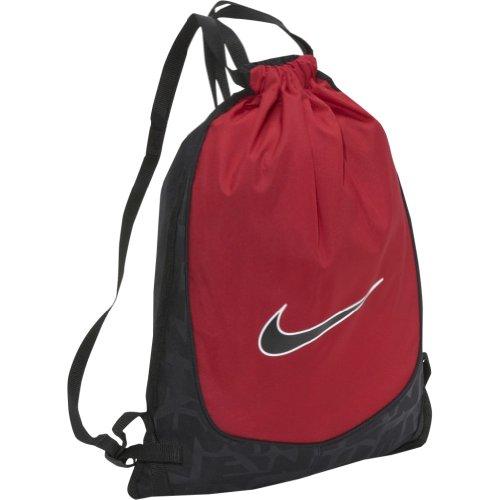 nike drawstring bag sack backpack black brasilia