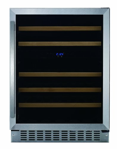 Fagor WC-46DZ Built-in Wine Cooler with LED Display, 5 Slide-Out Shelves and Door Alarm, 24-Inch
