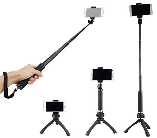Fotopro Mini treppiede Imposta selfie Stick, adattatore del telefono cellulare,...