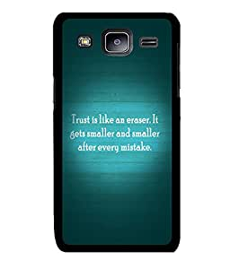 Fuson 2D Printed Quotes Designer back case cover for Samsung Galaxy J3 - D4555