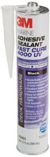 3M Hybrid Adhesive Sealant Fast Cure 4000 UV Black, 05503, 10 oz (295 mL) cartridge, (Pack of 1)