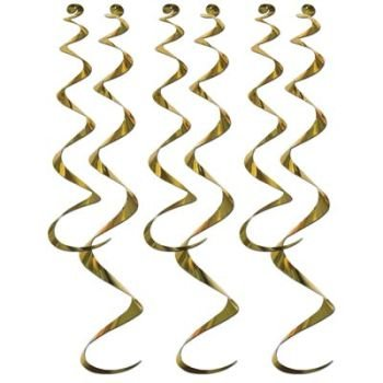 Twirly Whirlys, Gold 6 Per Pack