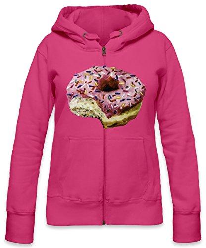 Donut Bite Womens Zipper Hoodie Large