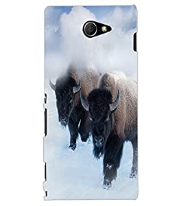 ColourCraft Yak Design Back Case Cover for SONY XPERIA M2