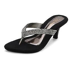 Lamere Womens Fashion Synthetic Gun Metal Heel (LA-290) 40