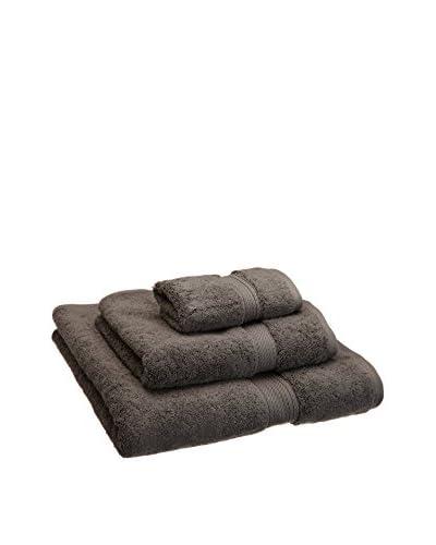 Superior 3-Piece 900 GSM Egyptian Cotton Towel Set, Charcoal