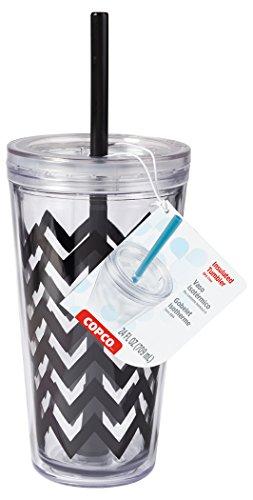 wilton-copco-reusable-insulated-double-walled-24oz-minimus-tumbler-chevron-black