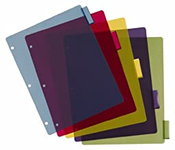 Cardinal Poly Dividers without Pockets, 5-Tab, Multi-Color (84018)