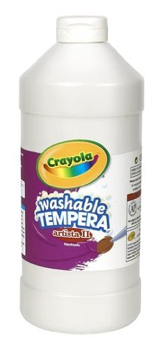 Crayola Tempera Washable Paint 32-Ounce Plastic Squeeze Bottle, White front-976487